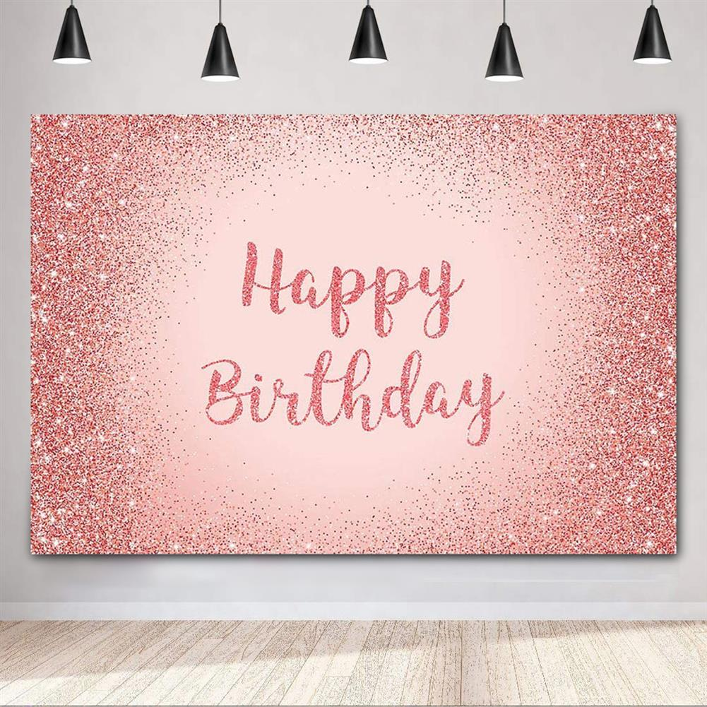 other-learning-office-supplies Birthday Photography Background Pink Gold Glitter Backdrop for Adult Women Birthday Party Decorations Photo Booth Backdrops HOB1796316 1