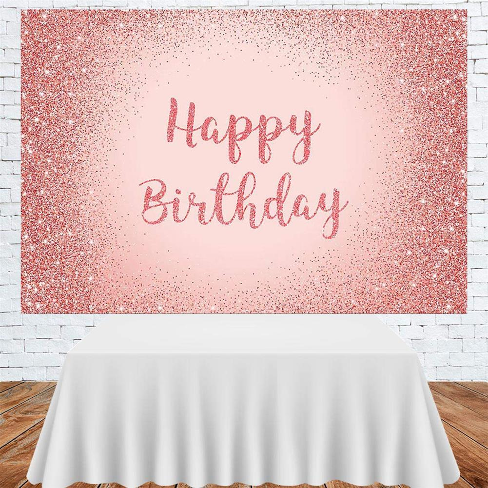 other-learning-office-supplies Birthday Photography Background Pink Gold Glitter Backdrop for Adult Women Birthday Party Decorations Photo Booth Backdrops HOB1796316 1 1