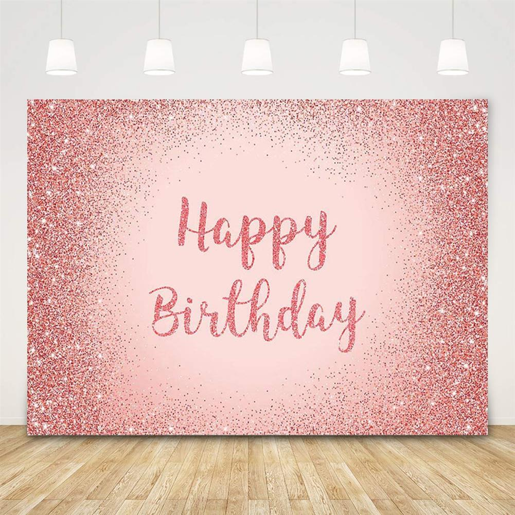 other-learning-office-supplies Birthday Photography Background Pink Gold Glitter Backdrop for Adult Women Birthday Party Decorations Photo Booth Backdrops HOB1796316 2 1