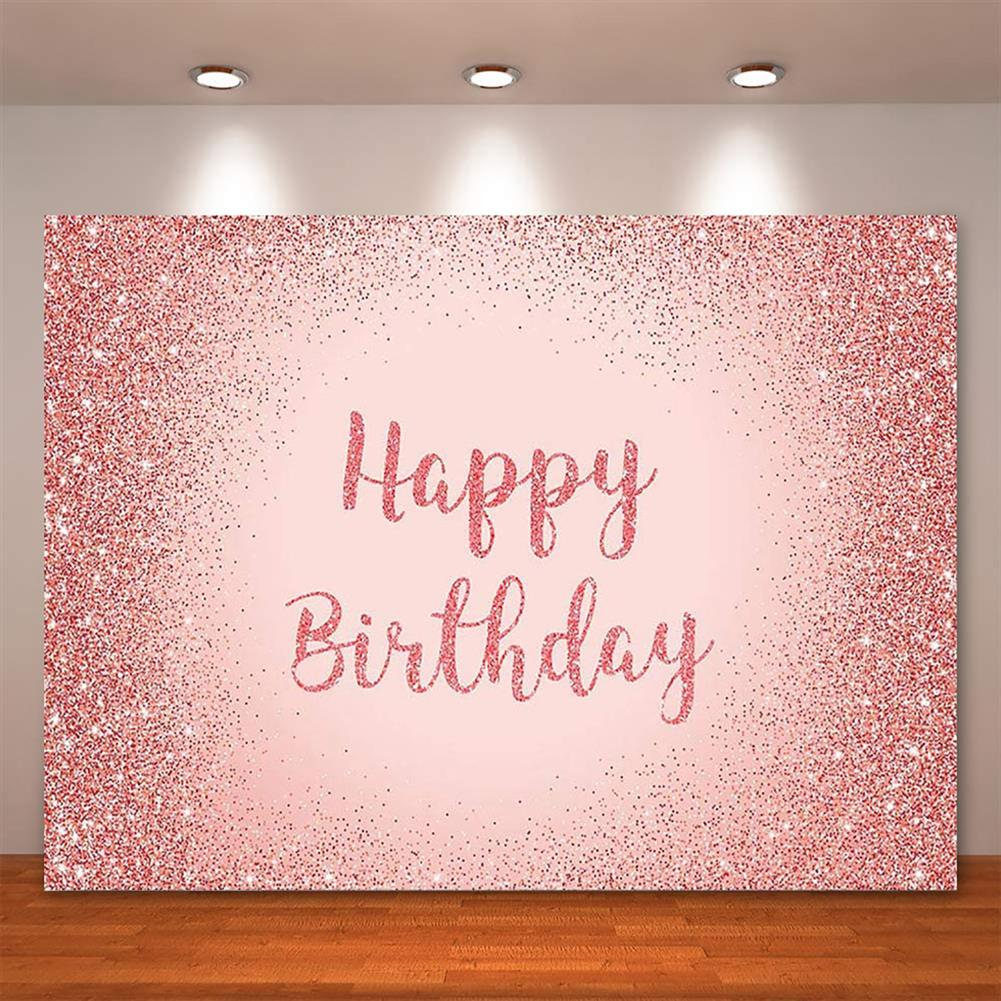 other-learning-office-supplies Birthday Photography Background Pink Gold Glitter Backdrop for Adult Women Birthday Party Decorations Photo Booth Backdrops HOB1796316 3 1