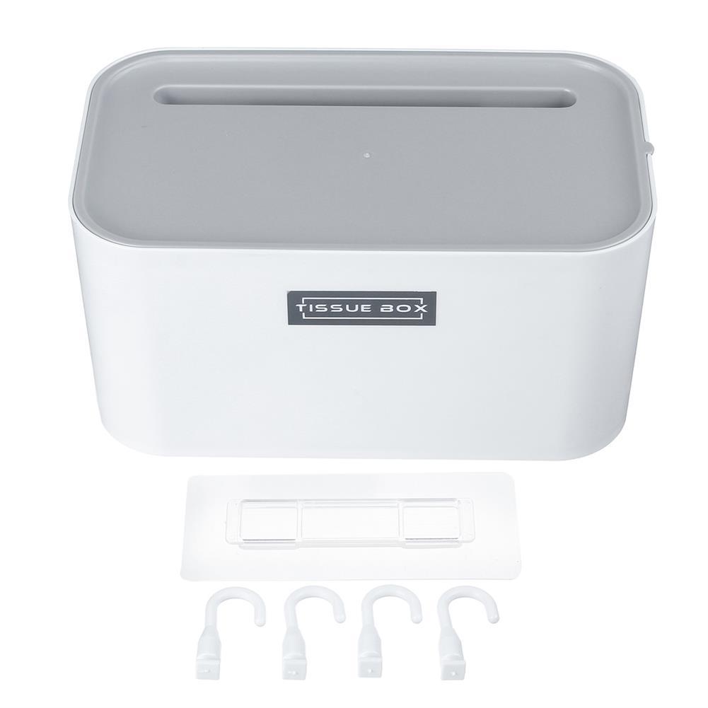 desktop-off-surface-shelves 4 Hooks Toilet Tissue Box Paper Napkin Holder Case Punch-Free Wall Mounted HOB1796869 1 1