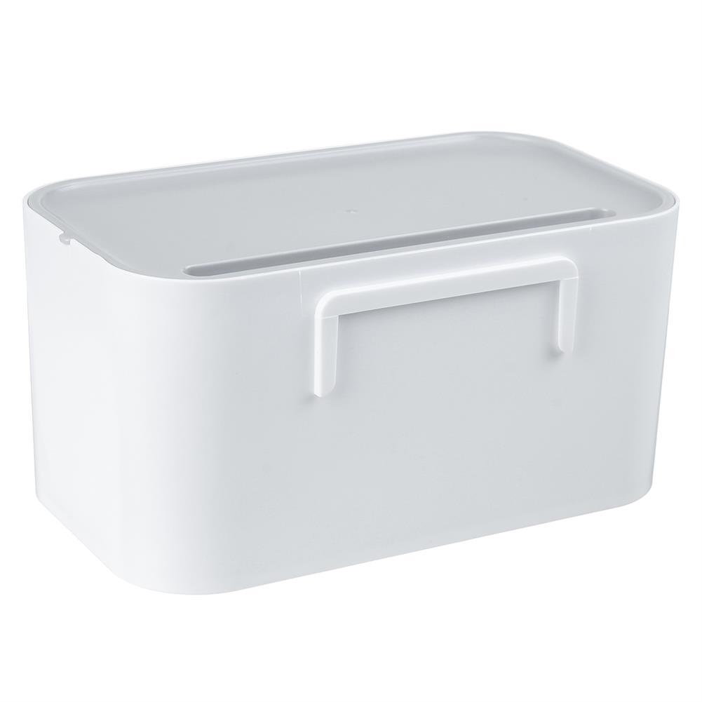 desktop-off-surface-shelves 4 Hooks Toilet Tissue Box Paper Napkin Holder Case Punch-Free Wall Mounted HOB1796869 2 1