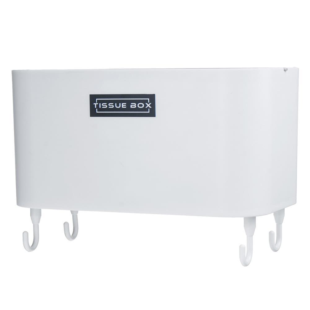 desktop-off-surface-shelves 4 Hooks Toilet Tissue Box Paper Napkin Holder Case Punch-Free Wall Mounted HOB1796869 3 1
