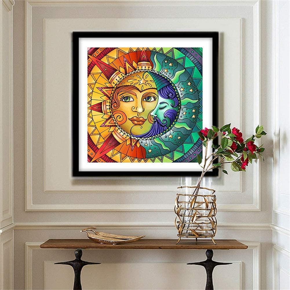 art-kit DIY 5D Diamond Painting Sun and Moon Diamond Embroidery Cross Stitch Full Drill Christmas Gift Home Decoration HOB1797663 2 1