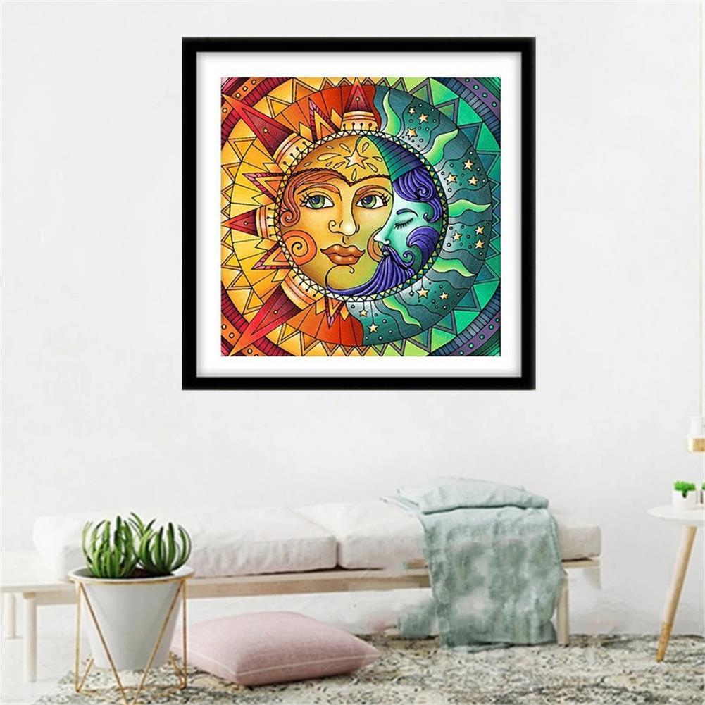 art-kit DIY 5D Diamond Painting Sun and Moon Diamond Embroidery Cross Stitch Full Drill Christmas Gift Home Decoration HOB1797663 3 1