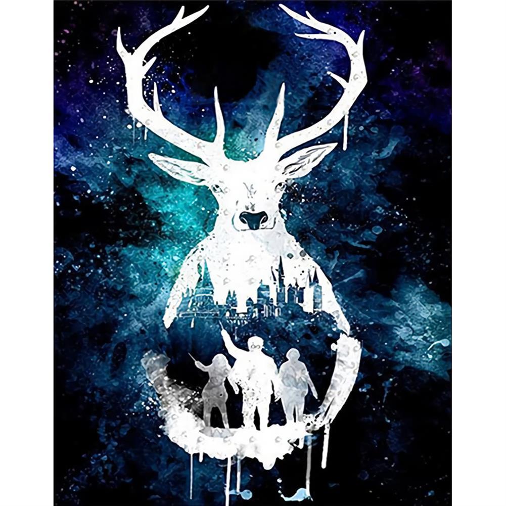 art-kit DIY 5D Diamond Painting Animal Deer Diamond Embroidery Cross Stitch Drill Christmas Gift Home Wall Decoration HOB1797696 1