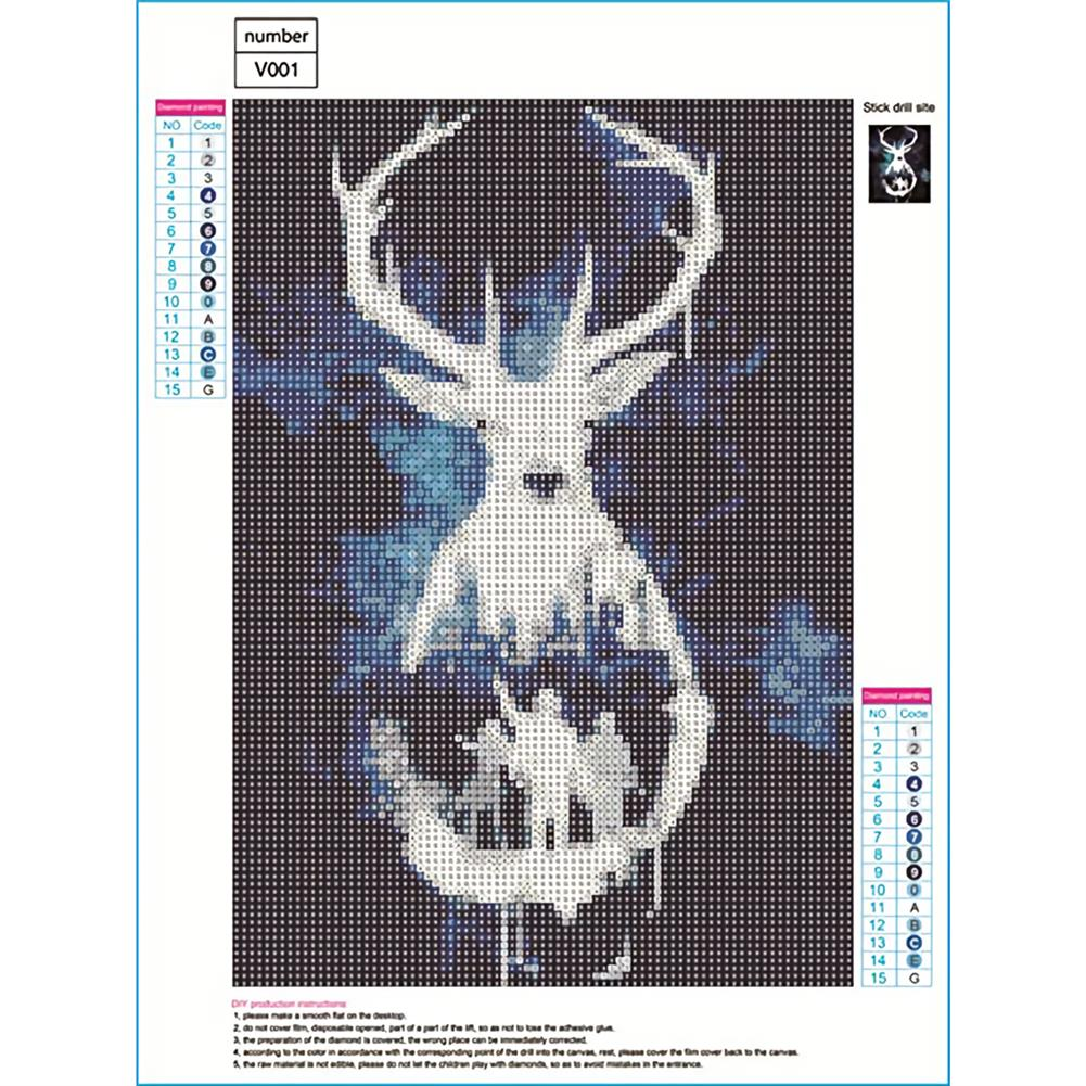 art-kit DIY 5D Diamond Painting Animal Deer Diamond Embroidery Cross Stitch Drill Christmas Gift Home Wall Decoration HOB1797696 1 1