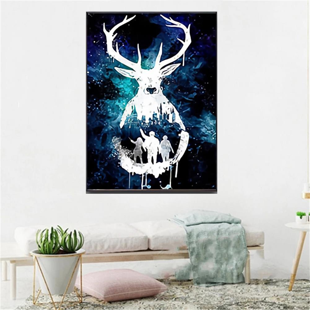 art-kit DIY 5D Diamond Painting Animal Deer Diamond Embroidery Cross Stitch Drill Christmas Gift Home Wall Decoration HOB1797696 3 1
