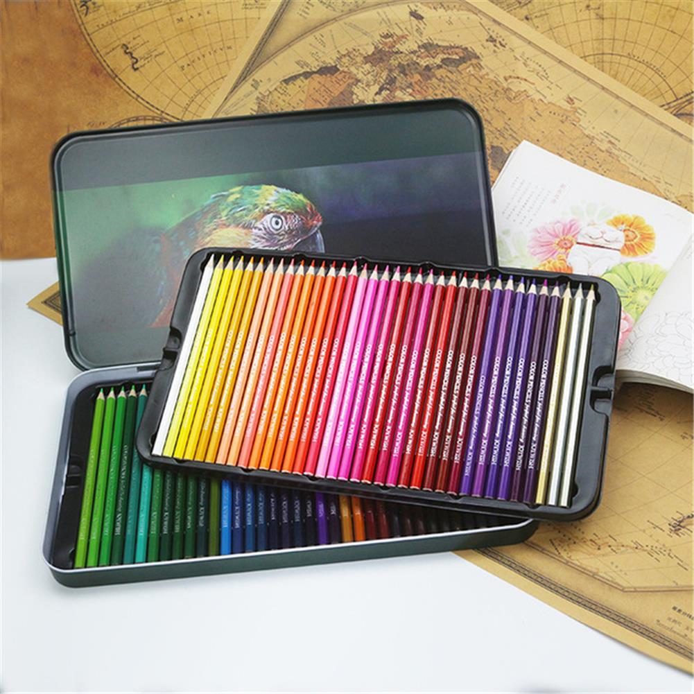 pencil 72 Colors Wood Colored Pencils Set Iron Box Colorful Lead Oil Painting Artist for Stationery School Drawing Supplies HOB1797712 3 1