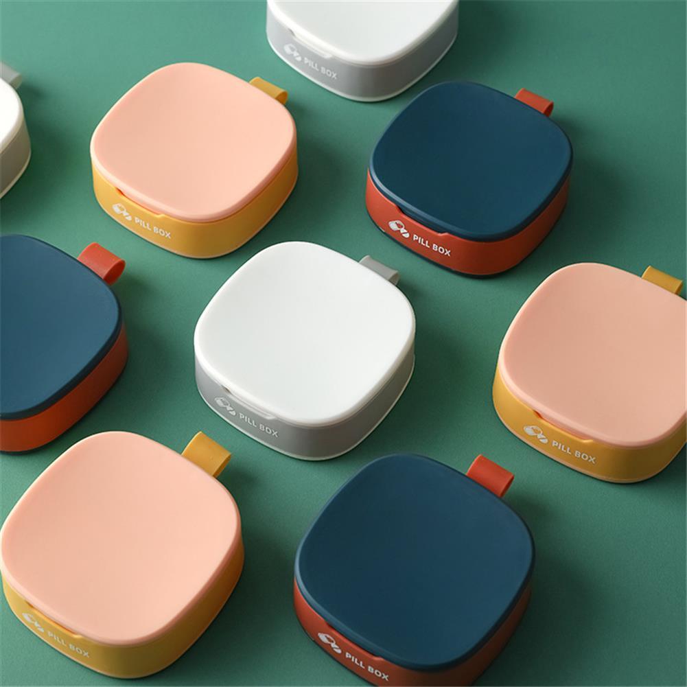 desktop-off-surface-shelves Mini Portable Pill Box 4 Grid Silicone Seal Travel Storage Pill Box Case Travel Divider Home Holder Cases Storage Box HOB1797769 1 1