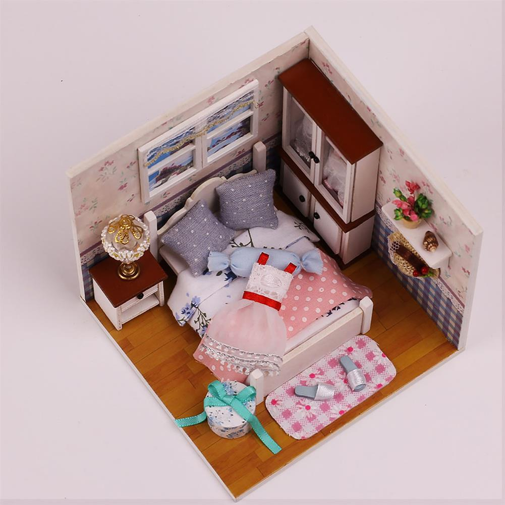 other-learning-office-supplies Handmade DIY Dollhouse with Tool Set 3D Scale Miniature LED Lights Kids Room for Children Gift Home Decoration HOB1797992 2 1