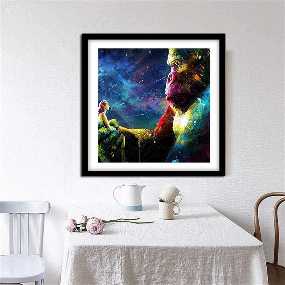 art-kit DIY Diamond Painting Dazzle Cartoon Orangutan Animal Hanging Pictures Handmade Wall Decorations Gifts Drawing for Kids Adult HOB1798054 2 1