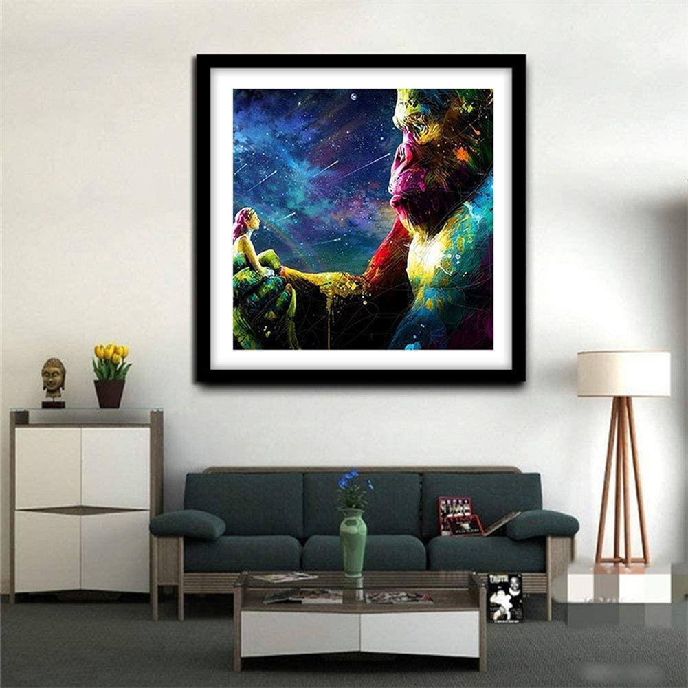 art-kit DIY Diamond Painting Dazzle Cartoon Orangutan Animal Hanging Pictures Handmade Wall Decorations Gifts Drawing for Kids Adult HOB1798054 3 1