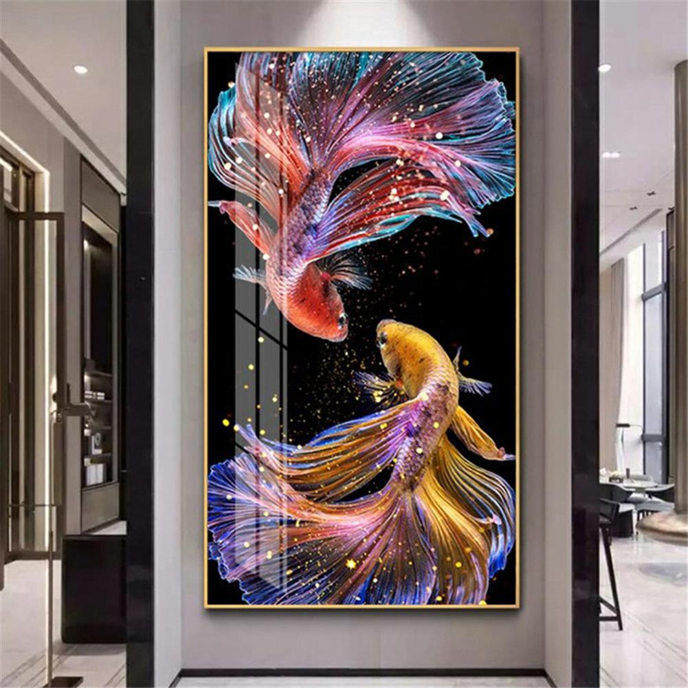 art-kit DIY 5D Diamond Painting Koi Goldfish Hanging Pictures Handmade Living Room Porch Decorations Gifts Drawing for Kids Adult HOB1798100 1 1