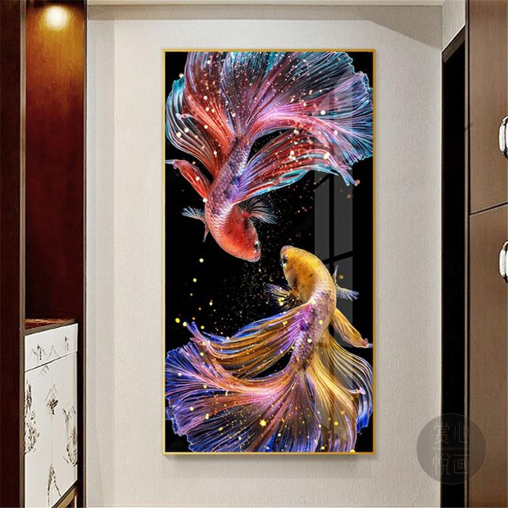 art-kit DIY 5D Diamond Painting Koi Goldfish Hanging Pictures Handmade Living Room Porch Decorations Gifts Drawing for Kids Adult HOB1798100 2 1