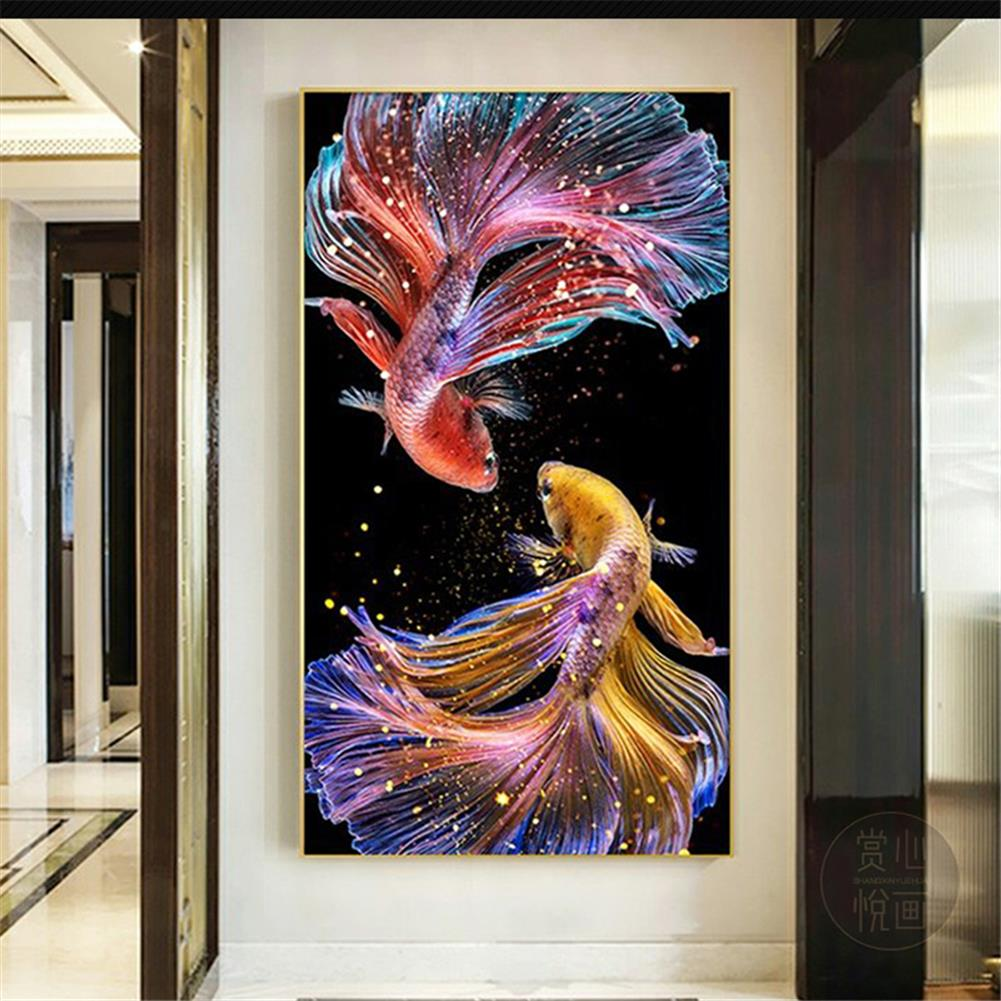 art-kit DIY 5D Diamond Painting Koi Goldfish Hanging Pictures Handmade Living Room Porch Decorations Gifts Drawing for Kids Adult HOB1798100 3 1