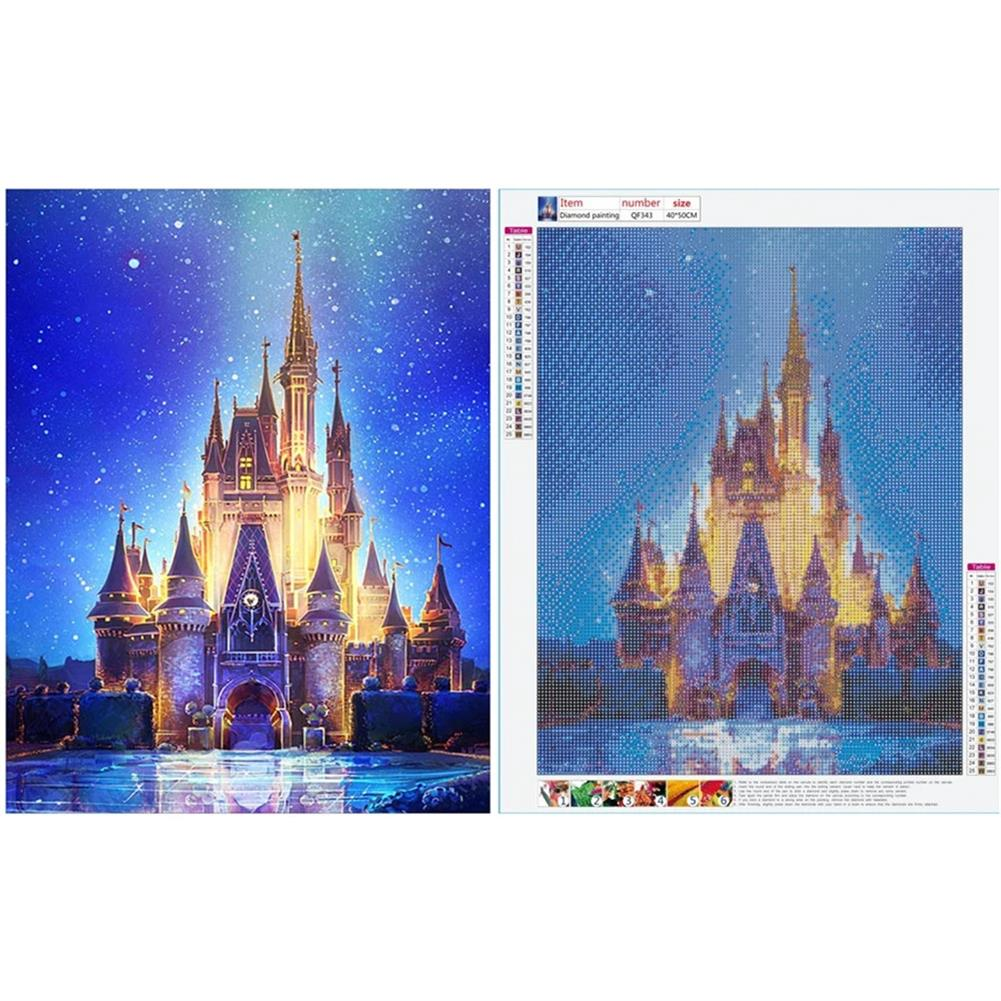 art-kit DIY 5D Diamond Painting Art Castle Hanging Pictures Handmade Cross Embroidery Kit Living Room Decorations Drawing Gifts HOB1798101 1 1