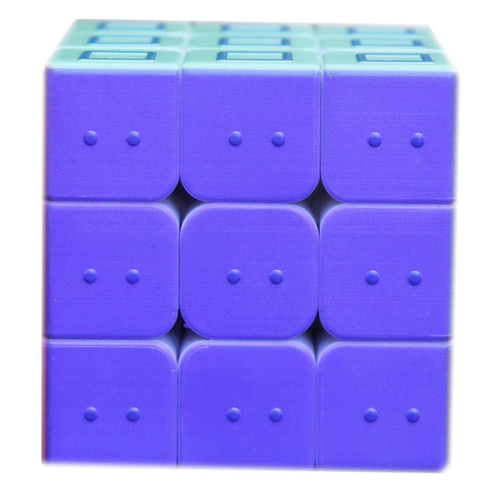 other-learning-office-supplies 3x3x3 3D Magic Cube Puzzle Toy Printing Embossed Geometric Braille Fingerprint Speed Magic Cube Early Learning Educational Toys HOB1798231 2 1