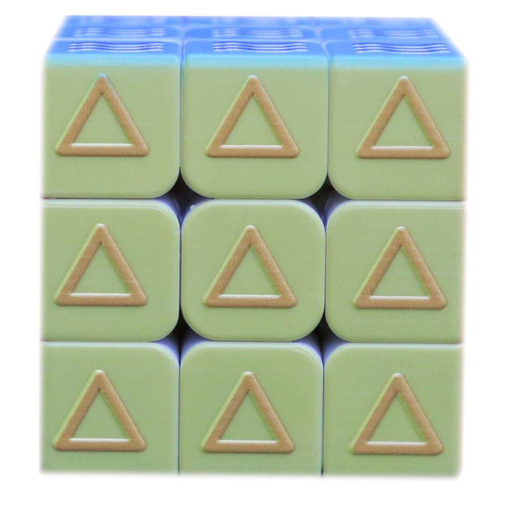 other-learning-office-supplies 3x3x3 3D Magic Cube Puzzle Toy Printing Embossed Geometric Braille Fingerprint Speed Magic Cube Early Learning Educational Toys HOB1798231 3 1