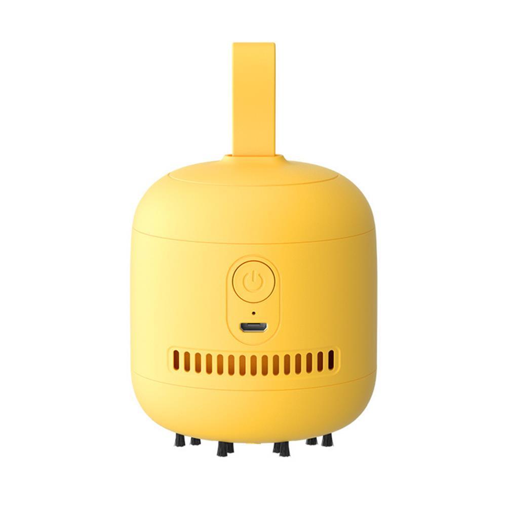 pencil-sharpener Mini Desktop Vacuum Cleaner USB Charging Portable Desk Table Notebook Computer Keyboard Dust Household office Supplies Yellow HOB1798552 1