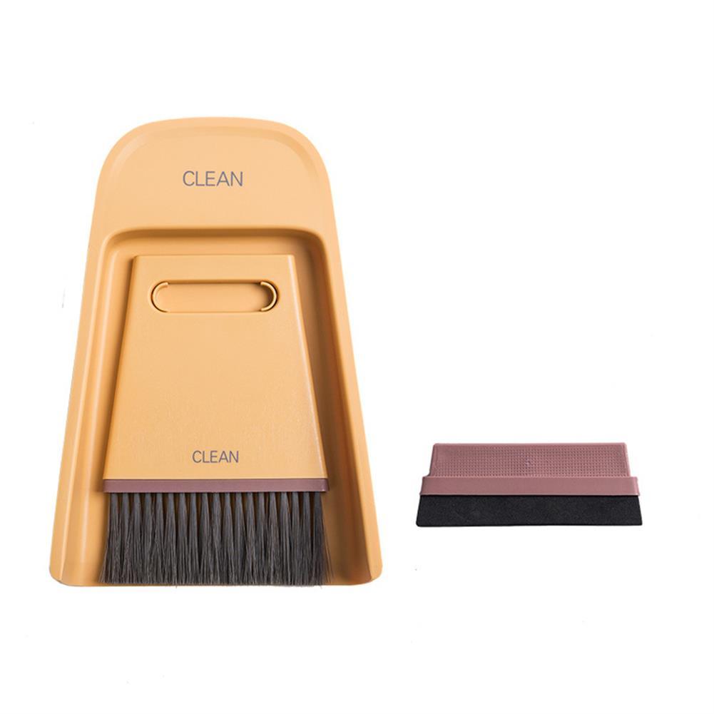 pencil-sharpener Mini Broom Dustpan Combination Set Home Soft Fur Magic Small Broom Sweep Portable Cleaning Brush for Desktop Tools HOB1798597 1