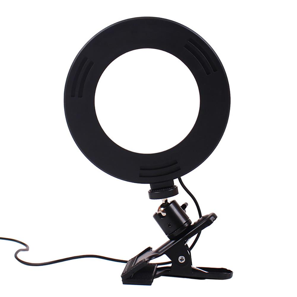 webcams LIBEN LB-6J 6inch LED Ring Light Dimmable Selfie Ring Lamp 3 Kinds of Color Temperature Line Control for Computer Live with Clip HOB1798684 1 1