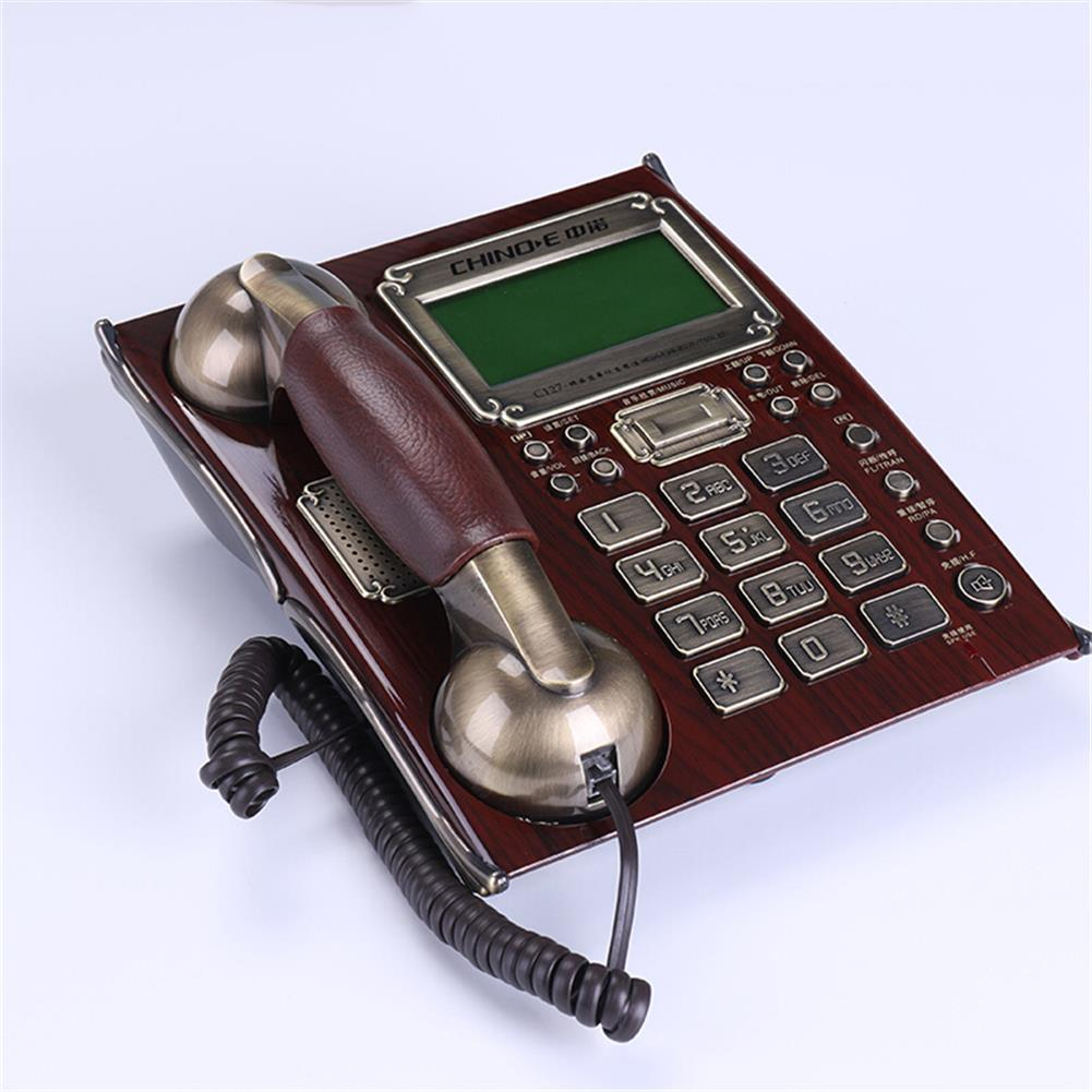 attendance-machine Retro Telephone Wire Fixed Landline Business Hands-free Dial Back Number Storage for Home office Hotel Restaurant HOB1798751 1
