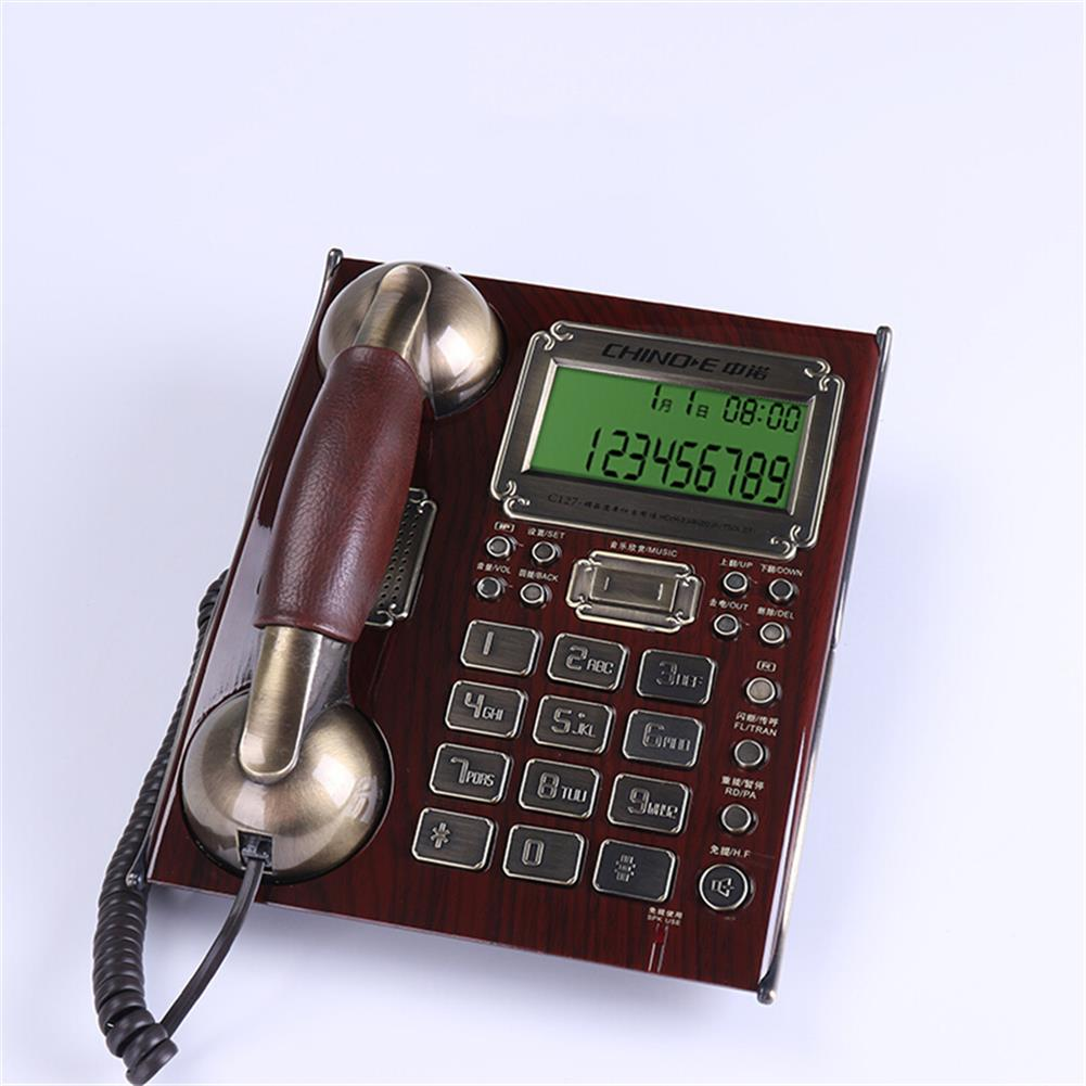 attendance-machine Retro Telephone Wire Fixed Landline Business Hands-free Dial Back Number Storage for Home office Hotel Restaurant HOB1798751 1 1