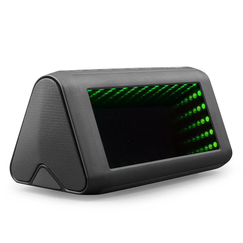 desktop-off-surface-shelves 3D LED Mirror Bluetooth Speaker Light Outdoor Portable Built-in Battery NFC Sensor Stereo Speaker with Acrylic Lens HOB1799335 1