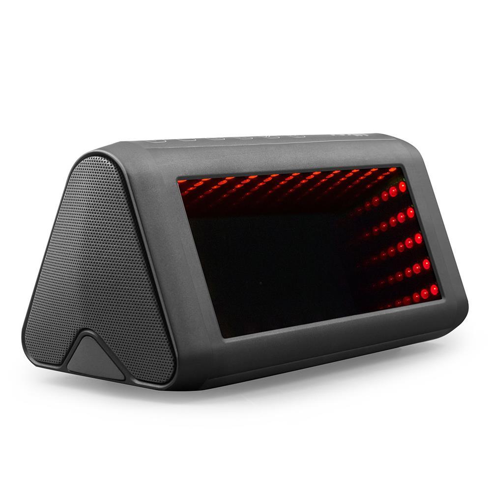 desktop-off-surface-shelves 3D LED Mirror Bluetooth Speaker Light Outdoor Portable Built-in Battery NFC Sensor Stereo Speaker with Acrylic Lens HOB1799335 1 1