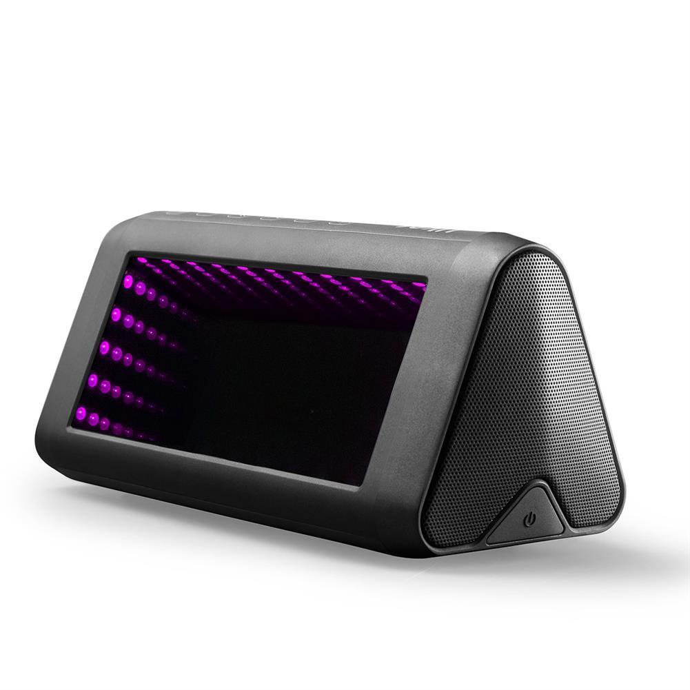 desktop-off-surface-shelves 3D LED Mirror Bluetooth Speaker Light Outdoor Portable Built-in Battery NFC Sensor Stereo Speaker with Acrylic Lens HOB1799335 2 1