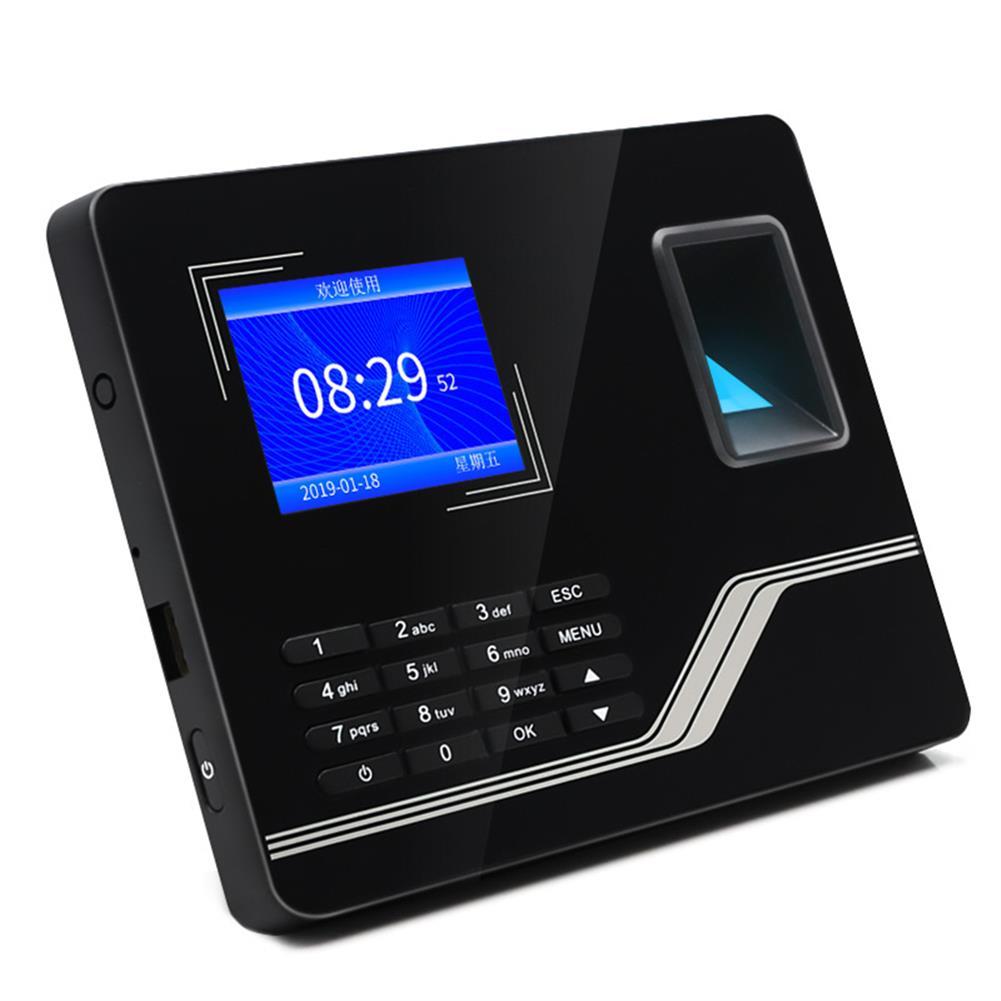 attendance-machine Fingerprint Attendance Machine 2.8-inch TFT HD Color Screen Big Button intelligent Fingerprint Time Employee Attendance Clock HOB1799766 1 1