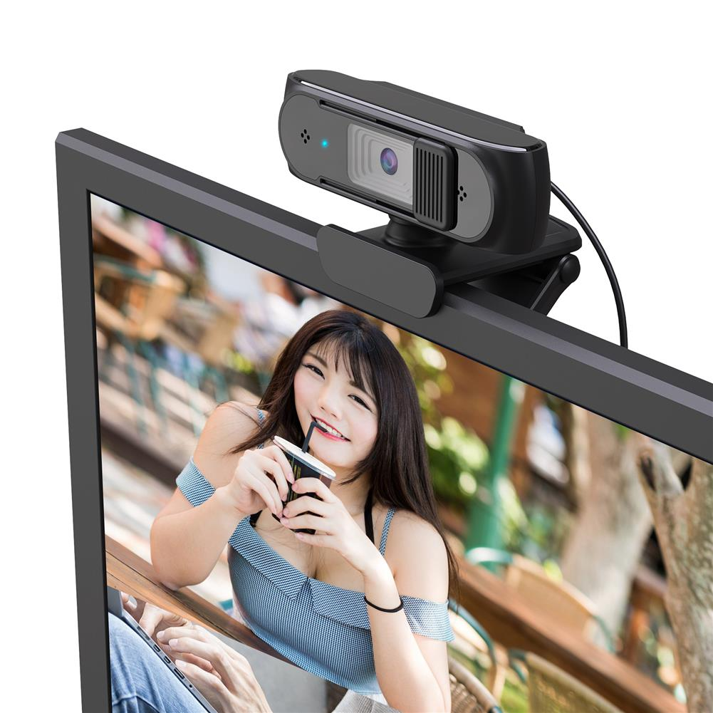 webcams HXSJ Wired Computer Webcam 1080P 5MP Auto Focus 360 Degree Rotatable Webcam with Privacy Cover Design for Video Calling Meeting HOB1799990 2 1
