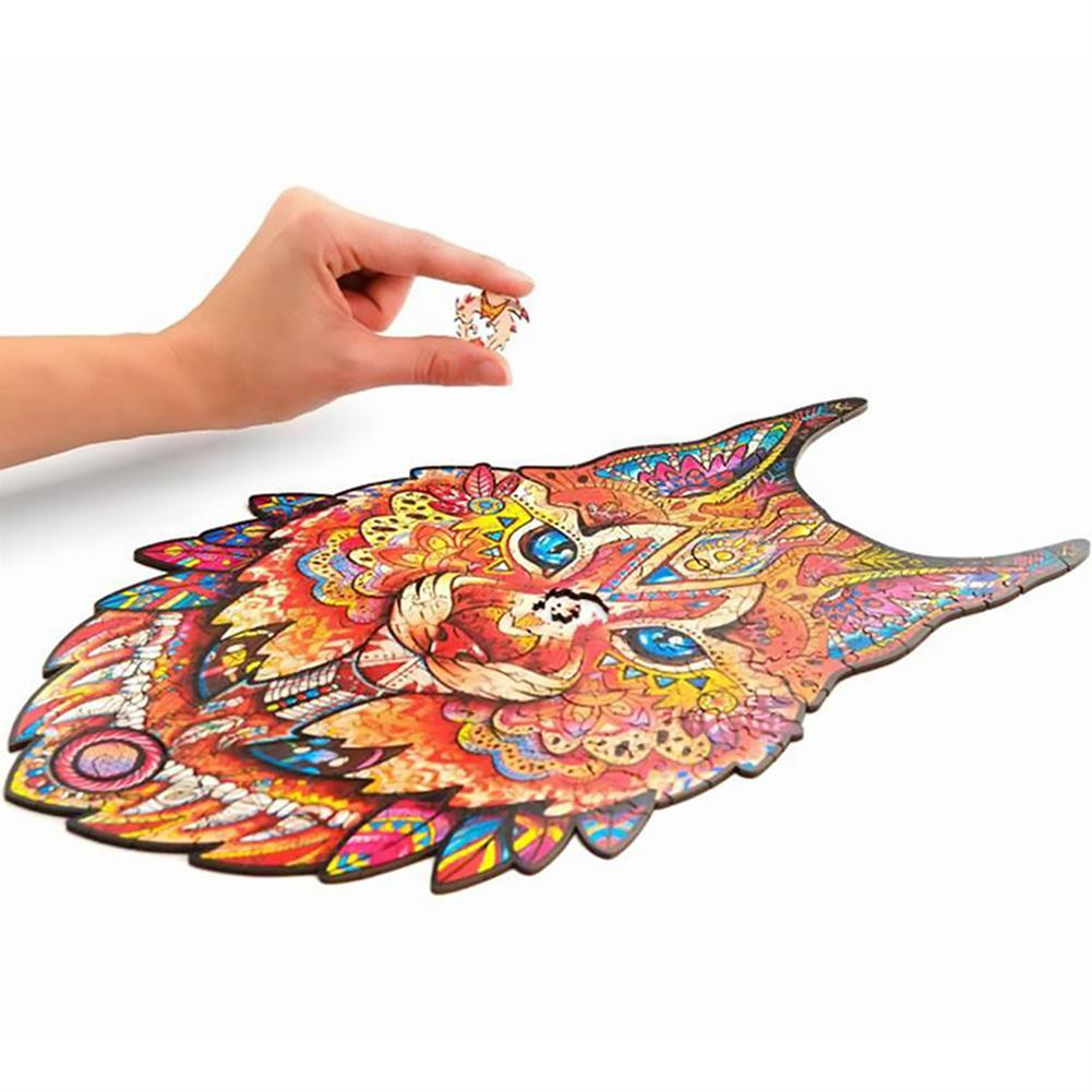 other-learning-office-supplies A3/A4/A5 Wooden Jigsaw Puzzle Unique Animal Shape Toy Early Education Best Gift for Kid Children Adults Kids HOB1800569 2 1