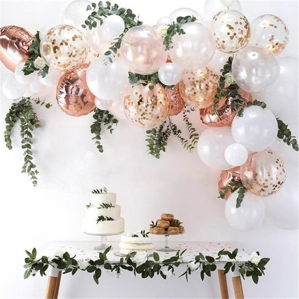 other-learning-office-supplies 68Pcs Balloon Set Pink and White Balloon Arch with 2 Meter Leaf Bar for Wedding Birthday Home Garden Decoration HOB1800757 1
