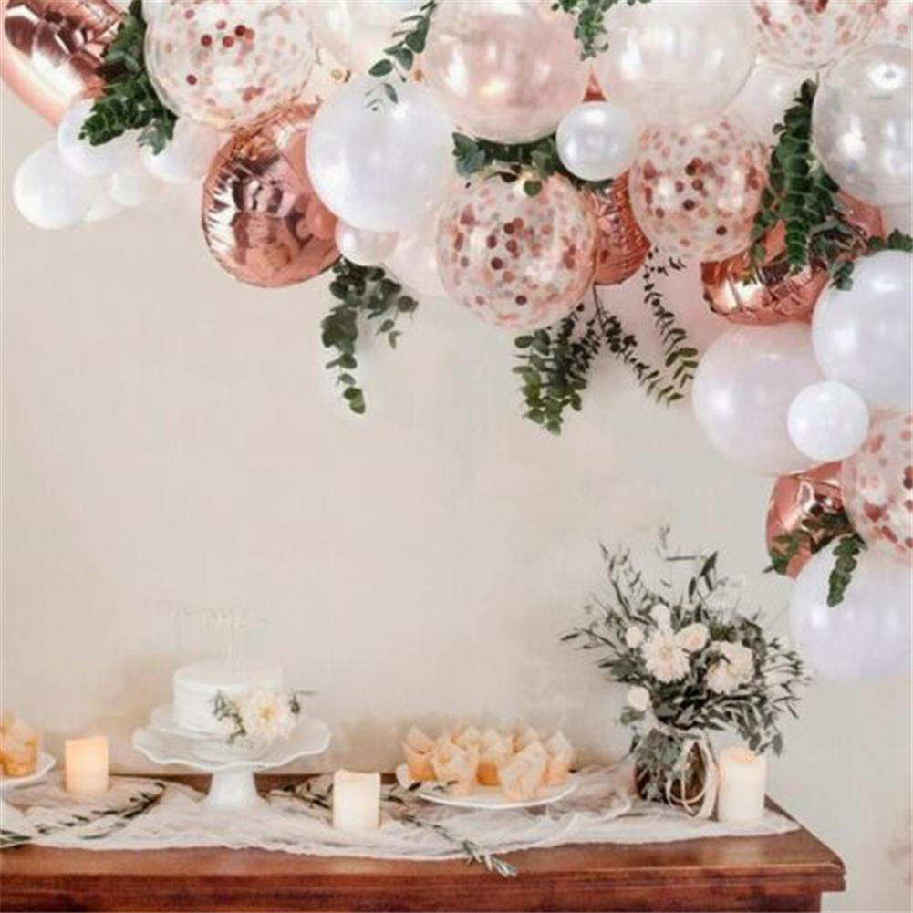 other-learning-office-supplies 68Pcs Balloon Set Pink and White Balloon Arch with 2 Meter Leaf Bar for Wedding Birthday Home Garden Decoration HOB1800757 1 1