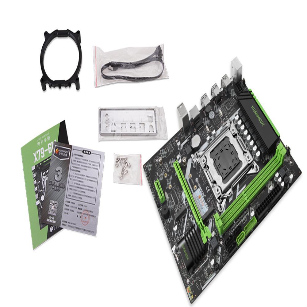 motherboard HUANANZHI X79 6M Motherboard intel XEON E5 LGA2011 All Series DDR3 RECC NON-ECC Memory NVME USB3.0 Processor C2/V1/V2 HOB1800798 3 1
