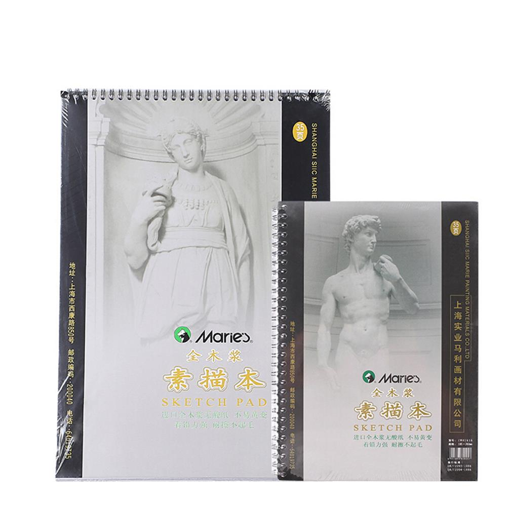 paper-notebooks 8K/16K 35 Pages Drawing Book Hand Drawn Painting Book Color Lead Pencil for Beginners Professional Art Stationery Supplies HOB1800952 1