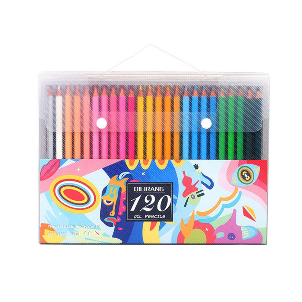 pencil 72/120/160 Colors Oil Color Lead Pencil Set Hand Painted Graffiti Coloring Pencil Stationery School Art Drawing Supplies Colored Pencils for Adult Coloring HOB1801026 1
