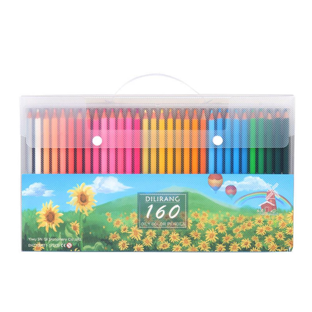 pencil 72/120/160 Colors Oil Color Lead Pencil Set Hand Painted Graffiti Coloring Pencil Stationery School Art Drawing Supplies Colored Pencils for Adult Coloring HOB1801026 1 1