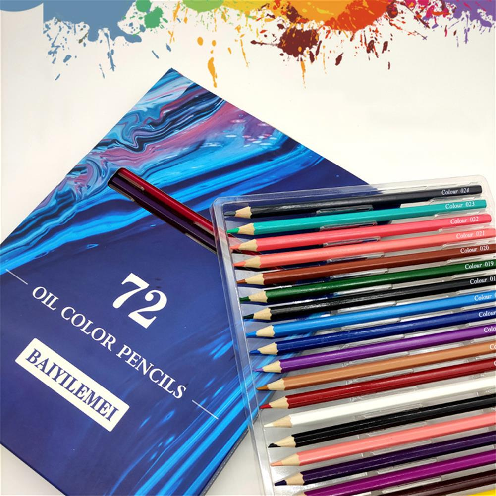 pencil 72 Coloring Pencils Set Hand Painted Graffiti Coloring Soft Watercolor Pencils Professional Stationery School Art Drawing Supplies Colored Pencils for Adult Coloring HOB1801057 1