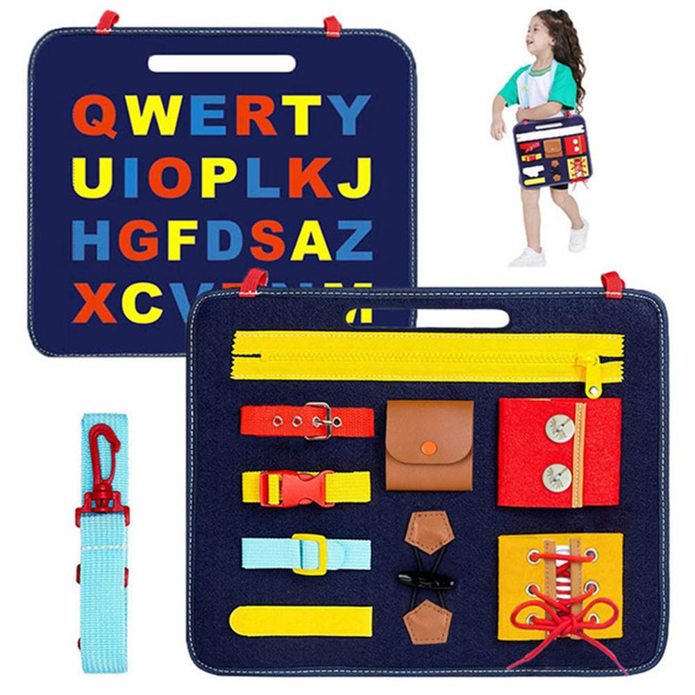other-learning-office-supplies DIY Toddler Montessori Toys Skills Training Learn To Dress Felt Board Toys intelligence Development Early Educational Puzzle Toy HOB1801081 1 1