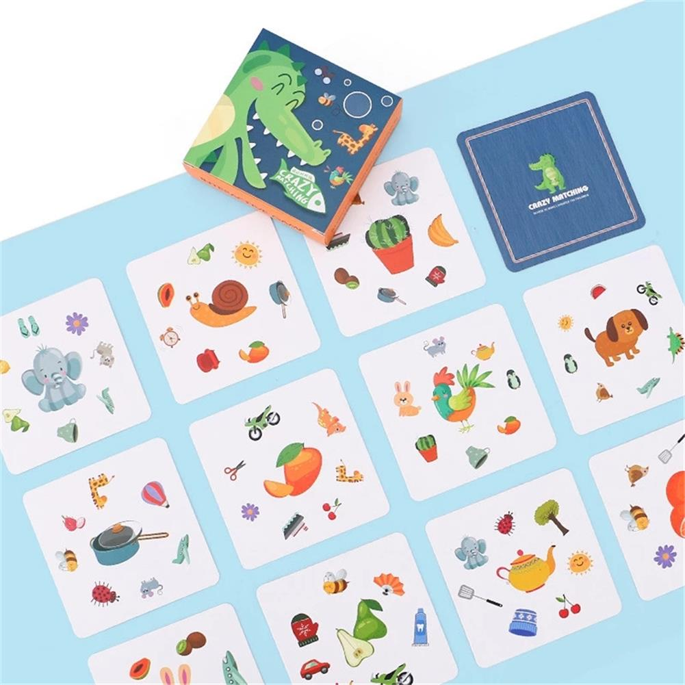 other-learning-office-supplies 54pcs Crazy Matching Pairing Find Card Education Board Game Puzzle Toys Parent-Child interactive Game Creative Gifts HOB1801099 2 1