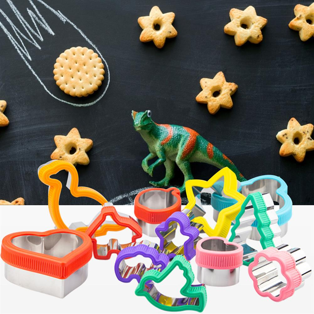 other-learning-office-supplies 12Pcs Cookie Mould Tool Stainless Steel Irregular Shape Embossing Tool with Hand Protection Ring for Home Cookie Baking HOB1801220 2 1