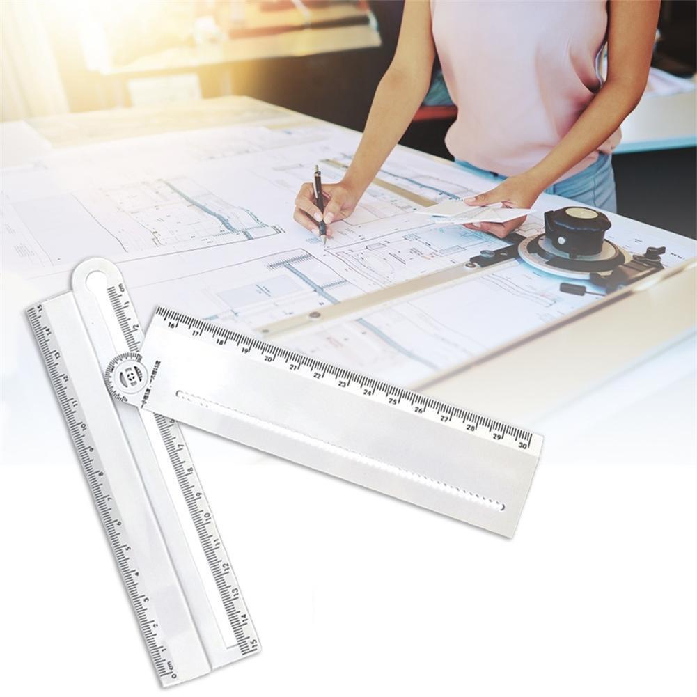 ruler Multifunction Ruler Angle Compass Parallel Ruler for Engineer Designer Measurement Tools Stationery School Art Supplies HOB1801245 1 1