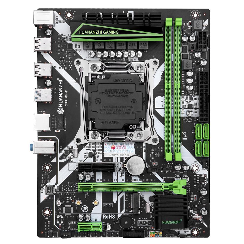 motherboard HUANANZHI X99-8M-F Motherboard intel XEON E5 X99 LGA2011-3 All Series DDR4 RECC NON-ECC Memory NVME USB3.0 SATA HOB1801283 1