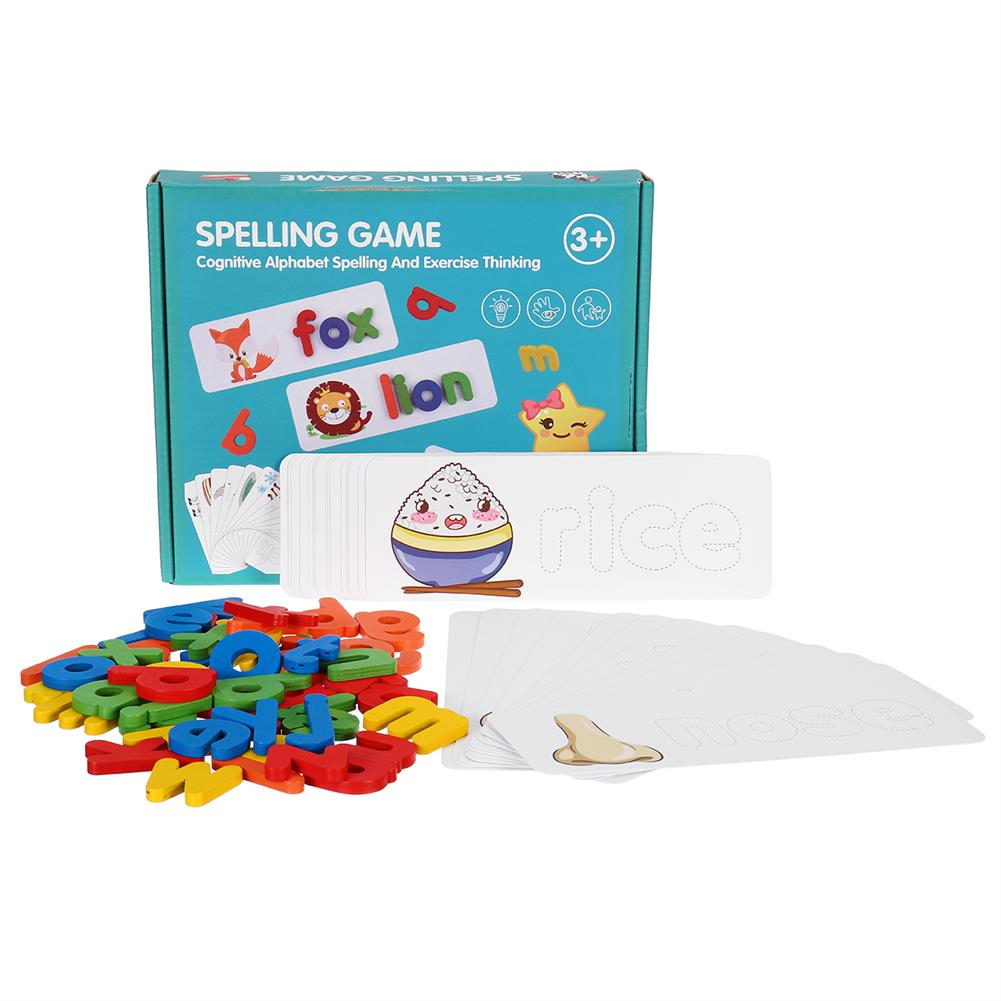other-learning-office-supplies Wooden Toddler Letter Learning Cards Alphabet Words Puzzle Educational Toys for Kids HOB1801525 1