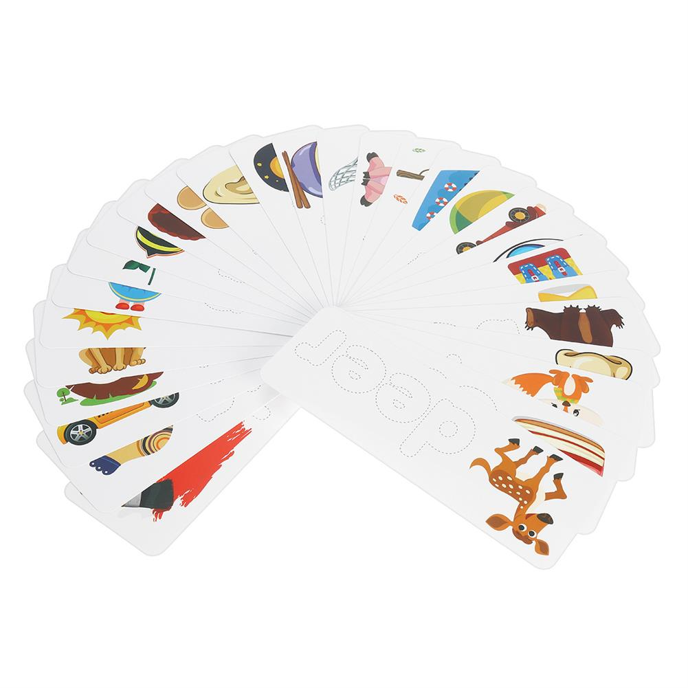 other-learning-office-supplies Wooden Toddler Letter Learning Cards Alphabet Words Puzzle Educational Toys for Kids HOB1801525 3 1