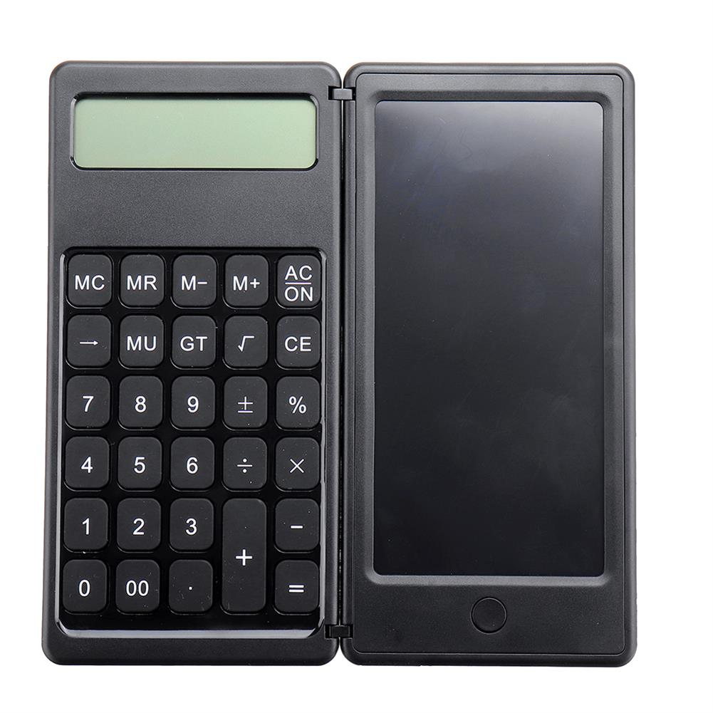 calculator [Highlight Version] Gideatech 12 Digits Display Desktop Calculator with 6 inch LCD Writing Tablet Foldable Repeated Writing Digital Drawing Pad with Stylus Pen Eraser Button Lock HOB1801550 3 1