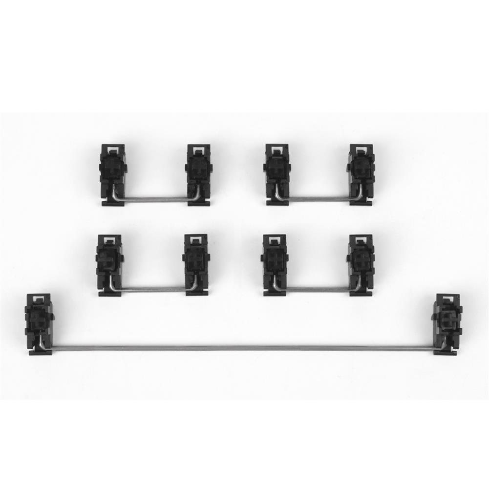 keycaps-switches Gateron Black Steel Plate-Mount Stabilizer Set for Mechanical Keyboard 60% Shaft Large Key Lubrication Tuning Modification Accessories HOB1801891 1